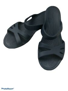 Crocs Kelli Sandals Women's Size 8W Navy Blue NWOT