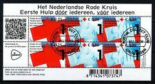 NEDERLAND GESTEMPELD VELLETJE ' HET NEDERLANDS RODE KRUIS '30.I.2012