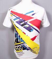 Vintage NIKE Dry Fit T Shirt S Slim Fit Retro Swoosh Logo Dri White Y2K 90s 00s
