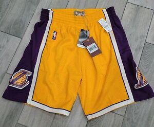 NEW 2009 Mitchell & Ness NBA Los Angeles Lakers Swingman Jersey Shorts Kobe Sz L