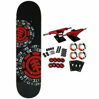 Element Skateboard Complete Dispersion 7.75' Red Trucks 52mm Wheels