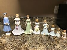 growing up birthday girls figurine set ages 1,2,6,10,12,15,16, Graduation