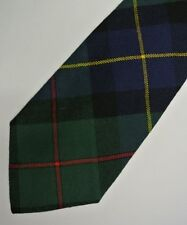 "Green Plaid Tartan CHRIS MENDEZ Wool Tie, Hand Made in ITALY 4"" Wide 55"" Long"