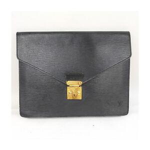 Louis Vuitton LV Brief Case Porte-Documents M54452  Black Epi 1418864