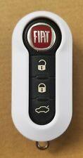 New White Shell Case for FIAT 500 3 Button Remote Flip Key Fob LTQF12AM433TX