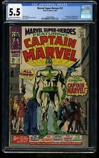 Marvel Super-Heroes #12 CGC FN- 5.5 Cream To Off White 1st Captain Marvel!
