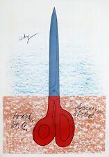 Claes Oldenburg: Scissors As Monument, 1968. Color Vintage Rare Poster