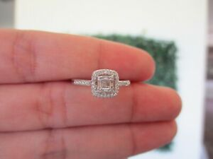 2.00 Carat Face Illusion Diamond Ring 14k White Gold JS75R sep
