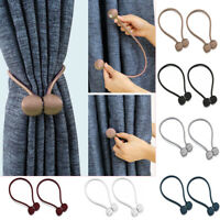 Magnetic Curtain Ball Hooks Rope Buckle Tie Backs Holdbacks Home Decorative 1PC