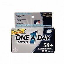 One A Day Men's 50+ Healthy Advantage Multivitamin, 65 Count EXP 01/2021
