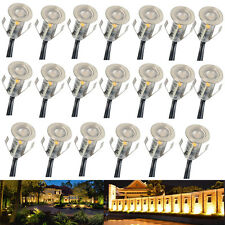 20x 18mm 12V Outdoor Yard Path Stairs Patio 0.4W LED Deck Floor Recessed Lights