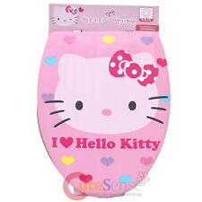 Sanrio Hello Kitty Pink Face Toilet Seat Cover  Dual Face Design Universal Size