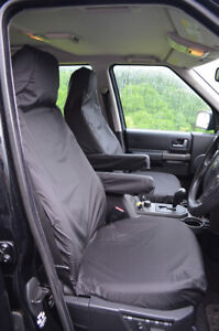 Black Tailored Waterproof Seat Covers Front for Land Rover Discovery Series 3 4