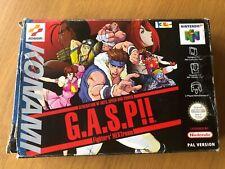 G.A.S.P Fighters NEXTream (gasp) CIB - N64 Nintendo 64