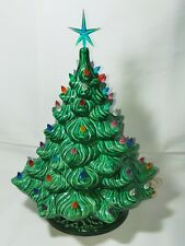 """Vintage Ceramic HOLIDAY CHRISTMAS TREE 19"""" Artificial Holland Mold 1989"""