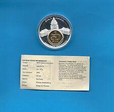 Médaille Danemark Château Amalienborg avec une monnaie de 50 Ore