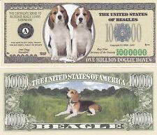 100 Beagle Dogs Canine K-9 Novelty Money Bills Lot