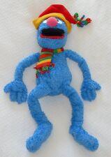 Sesame Street Blue GROVER Large Plush Winter Hat Scarf 2004 Christmas