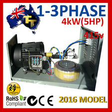 Single to three-phase converter 240V to 415V, 5HP (4KW) Part No. MMT4-ME