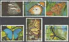 Timbres Papillons St Thomas et Prince 980/5 o lot 2325
