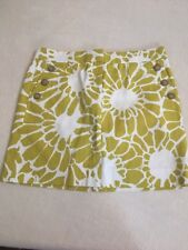 NWT J. Crew Green And White Floral Chino Skirt- Size 2