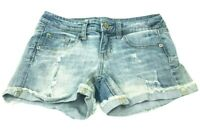 Mossimo Women's Size 3 Booty Jean Shorts Mid Rise Light Wash Denim