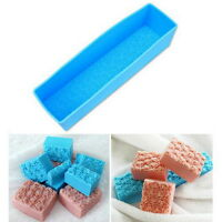 Rectangle Silicone Soap Mold DIY Tools Loaf Baking Cake Molds  B