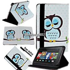 "FOLIO LEATHER STAND CASE COVER For Amazon Kindle Fire 7"" HD 8"" ( 7th Gen 2017)"