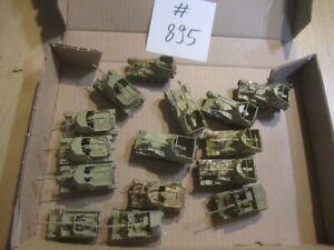 #895 1:72 bemalte Bausätze + Fertigmodelle WKII 15x Marder II + III Panzer Ari