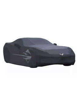 2014-2018 Chevrolet Corvette C7 Stingray GM Black Outdoor Car Cover OEM 23142884