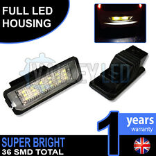 VW Golf 4 5 6 7 Complete LED Number Plate Housings Canbus 18 SMD Super Bright