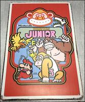 DONKEY KONG Junior Mario Metal Wall Tin Sign Retro Arcade Game Poster