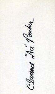 Ace Parker Hof Signed Jsa Cert Sticker 3x5 Index Card Authentic Autograph
