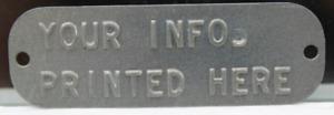 Custom Metal Embossed Personalized  Nameplate Apt Condo Mailbox Address ID Plate