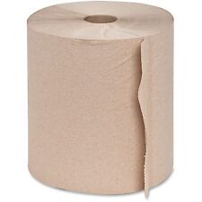 "Genuine Joe Hardwound Roll Towels 2""Core 7-7/8""x800' 6 Rolls/CT NATRL 22600"