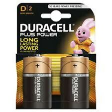 Duracell D Cell MN1300 Plus Power Batteries Pack of 2