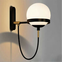 Modern Wall Light Fixtures Bedroom White Glass Wall Sconce Bar Kitchen Wall Lamp