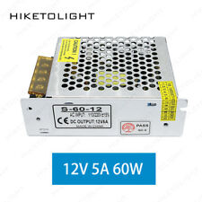 12V 5A LED Switching Power Supply 60W Industrial Driver for Strip Light Monitor