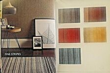 Origin 100% Wool Contemporary Style Rug Fine Stripes 3 Sizes 5 Colours