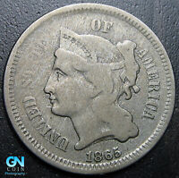 1865 3 Cent Nickel Piece  --  MAKE US AN OFFER!  #G7317