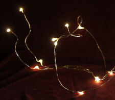 LED-Lichterkette - Waterdrop Lichterkette LED warm weiß x10 innen Timer ANGEBOT