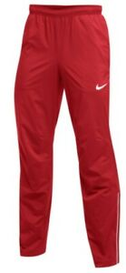 $115 Men's Nike Weather Resistant Mesh Lined Running Pants w/ Zip Pockets Red