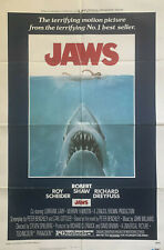 """JAWS"" (1975) ORIGINAL ONE SHEET MOVIE POSTER - SPIELBERG, ICONIC SHARK IMAGE"