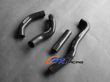 For KAWASAKI KX250 KX 250 1988 1989 88 89 Radiator silicone hose BLACK