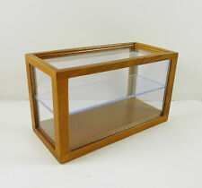 Dollhouse Miniature Small Display Counter Case, Walnut, T6677