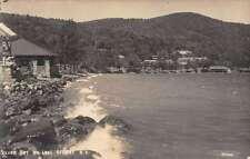 Lake George New York Silver Bay Real Photo Antique Postcard K22472