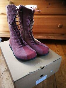 NEU Waldviertler Schuhe Gr. 37 Stiefel Moulin Rouge Rosenholz Bio öko