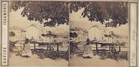 Suisse Vevey Savioz Fotografia Chamonix Stereo Vintage Albumina Ca 1860