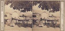 Suisse Vevey Savioz photographe Chamonix Stereo Vintage albumine ca 1860