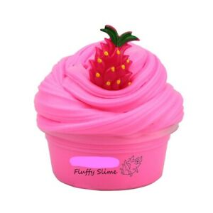 FLUFFY FOAM SLIME CHILDREN FUN CLAY SOFT LEARNING PINK PLASTICITY GIFT 50 GR UK